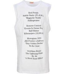raf simons text print tank top