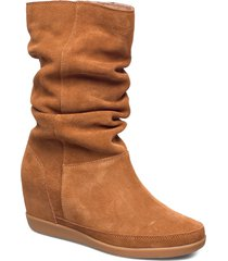 emmy slouchy boot höga stövlar brun shoe the bear
