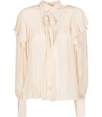 laurence bras ruffled blouse