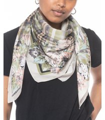 giani bernini plaid floral square scarf, created for macy's