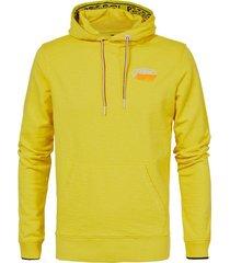 trui hooded geel