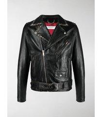 golden goose belted waist biker jacket