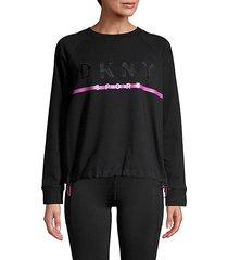 embroidered logo stretch-cotton sweatshirt