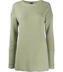 joseph metallic-thread extended-cuff sweater - green