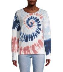 chance or fate women's tie-dye sweatshirt - dusty indigo - size l