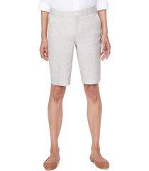 women's nydj stretch linen blend bermuda shorts, size 14 - beige