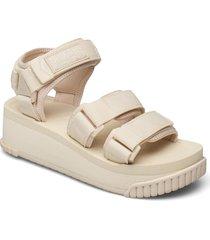 neo bungy platform shoes summer shoes flat sandals creme shaka