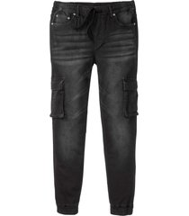 jeans termici superstretch slim fit straight (nero) - rainbow