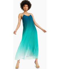 bar iii pleated ombre maxi dress, created for macy's