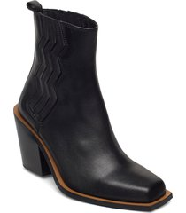 biagz boots shoes boots ankle boots ankle boot - heel svart gestuz