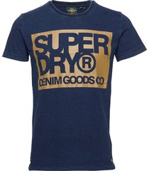 denim goods co print tee t-shirts short-sleeved blå superdry