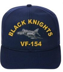 vf-154 black knights  f-4 phantom  direct embroidered cap    new
