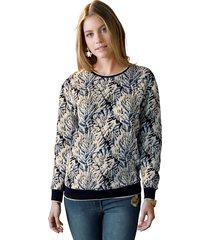 sweatshirt amy vermont beige::zwart::blauw