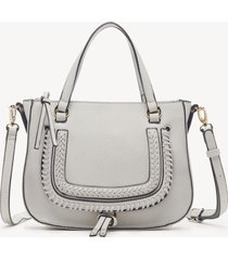women's destin crossbody bag 2 vegan studded whipstich linen vegan leather from sole society
