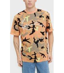 karl kani kk signature camo tee t-shirts & linnen camel