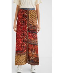 long floral skirt - orange - 46