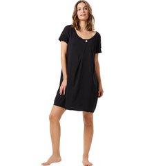 camisola corpo e arte carly preta - preto - feminino - algodã£o - dafiti