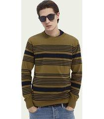 scotch & soda lichtgewicht sweater met speciale strepen