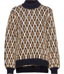 anders, 726 cable knitwear stickad tröja multi/mönstrad stine goya