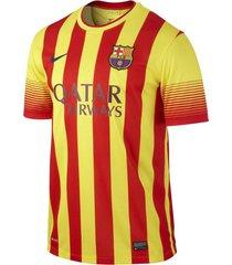 camiseta camiseta barcelona hombre nike fr532823-703l amarillo