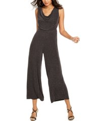 thalia sodi metallic cowlneck jumpsuit, created for macy's