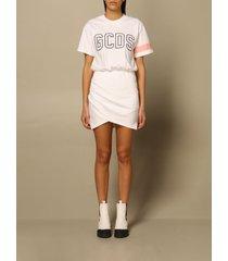 gcds dress gcds cotton dress with big logo