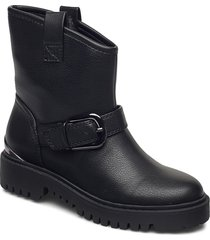 orican/stivaletto /lea shoes boots ankle boots ankle boot - flat svart guess