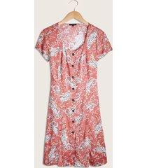 vestido corto estampado suelto-10