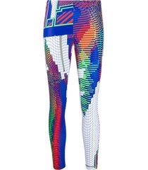 junya watanabe legging com estampa gráfica 90s - azul