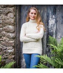 the kilcar aran sweater cream m