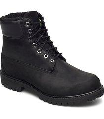 6 in premium fur/warm lined boot snörade stövlar svart timberland
