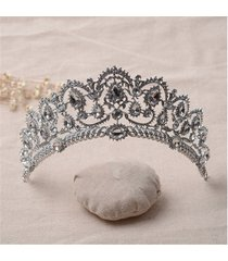 sposa strass crystal princess queen crown tiara head gioielli copricapo wedding party fascia