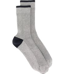brunello cucinelli ribbed socks - grey