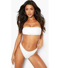 gerecyclede bandeau bikini top, white