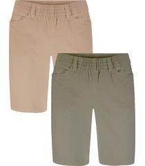 shorts elasticizzati (pacco da 2) (marrone) - bpc bonprix collection