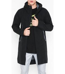 krakatau hooded rain coat jackor black