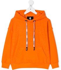 duoltd relaxed fit hoodie - orange