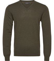 lymann merino v-neck sweater gebreide trui v-hals groen j. lindeberg