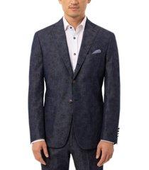 tallia men's slim-fit navy paisley suit separate jacket