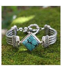 sterling silver pendant bracelet, 'promise' (indonesia)