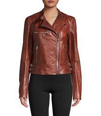 blouson moto leather jacket