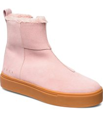 suede / pile boots shoes boots ankle boots ankle boot - flat rosa svea