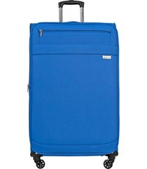 maleta de viaje tipo cabina naples  azul - explora