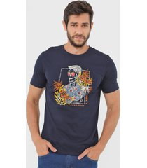 camiseta jack & jones under the sun azul-marinho