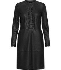 dress knälång klänning svart depeche