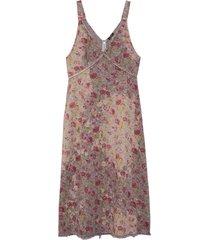 bleached grunge slip dress in beach floral