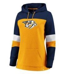 majestic nashville predators women's colorblocked fleece sweatshirt