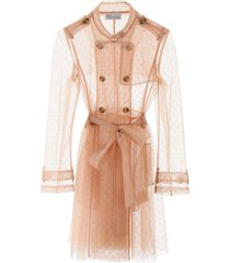red valentino plumetis trench coat