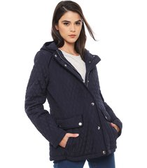 parka larga tommy hilfiger azul - calce regular