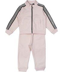 moncler pink cotton tracksuit set